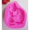 Stampo Silicone Gatta con Gattino   8 x 7 x 1,7 cm  - 1 pz
