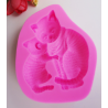 Mother and Baby Cat  Silicone Mould   8 x 7 x 1,7    cm  - 1 pc