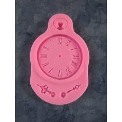 Steampunk  Clock Silicone Mould   9  x 5,7 x 0,8   cm  - 1 pc
