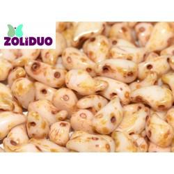 Zoliduo®  5 x 8  mm Alabaster Travertin    Right Version  -  20  pcs