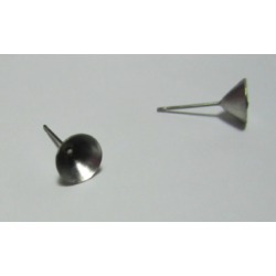 Stainless Steel Post Ear Stud For 8 mm Pointed Back Rivoli  -  2 pcs