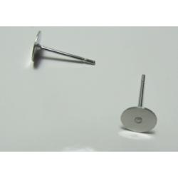 Perno Acciaio Tondo Piatto  12x6 mm  -  2 pz