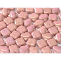 Perline Silky 6x6 mm  Opaque Rose Luster -  30 pz