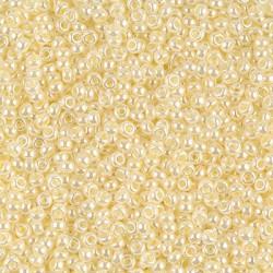 Miyuki Round Seed Beads  11/0  Butter Cream Ceylon   - 10 g - cod. 0527