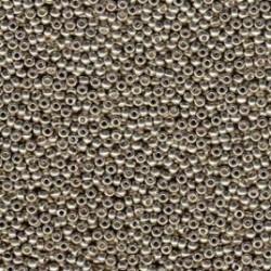 Miyuki Round Seed Beads  11/0 Duracoat Galvanized Light Pewter    10 g- code 4221
