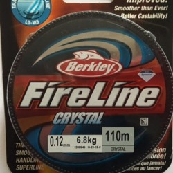 Fireline Thread  0.12 mm  Crystal   - 1 Spool of  120 Yard