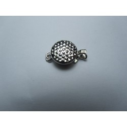 Brass Box  Clasp 10x15x5   mm, Platinum Color Plated - 1 pc