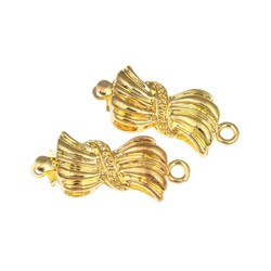 Brass  Box  Clasp 15x9x6  mm, Gold Color Plated - 1 pc