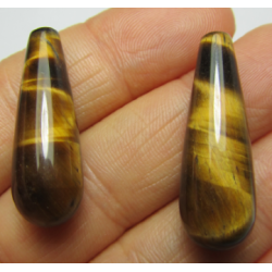 Tiger Eye  Drops  30x10 mm   -  2 pcs