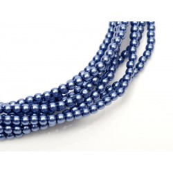 Glass Pearls  3 mm  Persian Blue  - 50 pcs