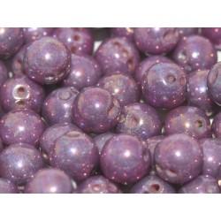 RounTrio® Beads 6 mm Chalk White Iris - 25  pcs