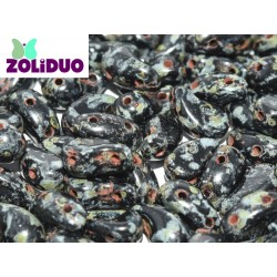 Zoliduo®  5 x 8  mm Jet Travertin Right Version  -  20  pcs