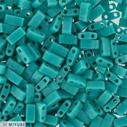 Half Tila Miyuki 5x2,5 mm Opaque Turquoise Green  - 5 g