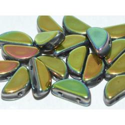 Semi Circle Beads  5x10 mm Crystal Full Capri Rose - 10 Pz