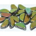 Semi Circle Beads  5x10 mm  Crystal Vitrail Full  - 10 Pcs