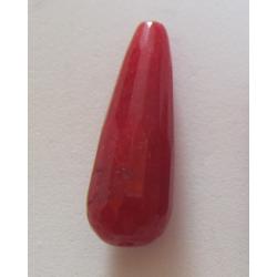 Goccia  Sfaccettata Giada  Colorata Rosso Scuro 30x10 mm  -  1 pz