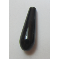 Agate Drop Dyed  Motley Black/Brown  30x10 mm   -  1 pc