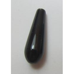 Goccia Agata Liscia  Colorata Nero/Marrone Variegato  30x10 mm  -  1 pz