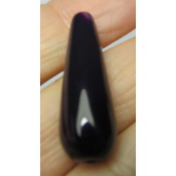 Agate Drop Dyed Dark Purple  30x10 mm   -  1 pc