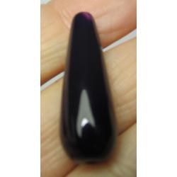 Goccia Agata Liscia  Colorata Viola Scuro  30x10 mm  -  1 pz