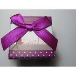 Cardboard  Box for Rings  50x50x40 mm  Purple  Fantasy - 1 pc