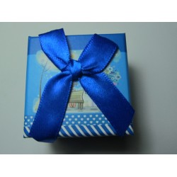 Cardboard  Box for Rings  50x50x40 mm  Blue Fantasy - 1 pc