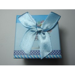 Cardboard  Box for Rings  50x50x40 mm Light Blue Fantasy - 1 pc