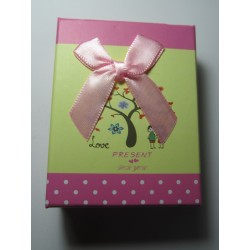 Cardboard  Box for Jewelry 90x70x30 mm  Pink Fantasy - 1 pc