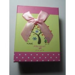 Scatola Cartone per Bijoux  90x70x30 mm Fantasia Rosa  - 1 pz