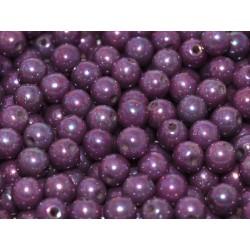 Round Beads  3 mm Chalk White  Iris - 50 pcs