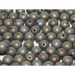 Round Beads  6 mm  Matte Iris Brown  - 25 pcs