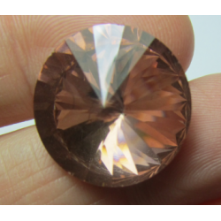 Glass  Pointed Back Rhinestone  Rivoli 18 mm Light Peach  - 1 pc