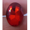 Cabochon Ovale Sfaccettato  in Vetro  13 x 18  mm  Orange - 1 pz