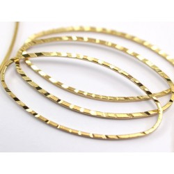 Brass Oval Bossed Link  40 x 20  mm  - 1 pc
