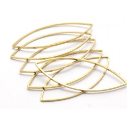Brass Marquise  Link   41 x 16  mm   - 1 pc