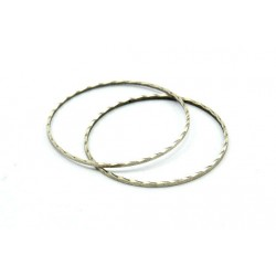 Brass Circle  Link  Bossed  30 mm , Antique Silver Colour  - 1 pc