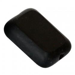 Perle in Vetro Collezione Vintage  Par Puca®  Rettangolo  12 x 8 x 3 mm  Jet  - 10  pz