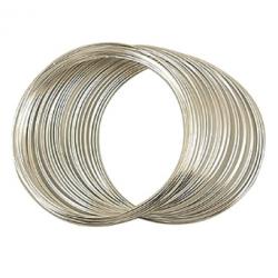 Molla Armonica per Bracciali  50  mm,  6 giri  Color Argento -  1 pz