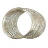 Memory Wire Bracelet  50 mm,  6  Rows Silver Color Plated - 1 pc