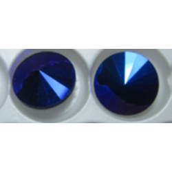 Rivoli Vetro 12 mm  Amethyst/Cobalt   AB  - 1 pz