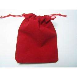 Velvet Jewelry  Bag  9x7 cm  Red - 1 pc