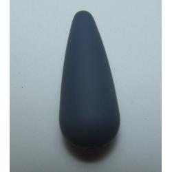 Goccia Resina Satinata   33x13 mm  Bordeaux   -  1 pz