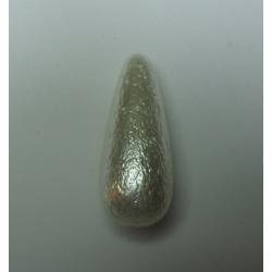 Goccia Resina Lavorata  32x13 mm Ivory Pearl  -  1 pz