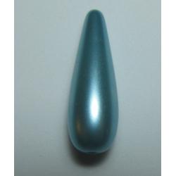 Goccia Resina  30x10 mm Aqua  Pearl  -  1 pz