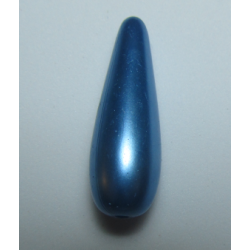Goccia Resina  30x10 mm Azure/Blue  Pearl  -  1 pz