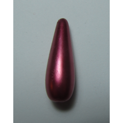 Resin Drop 30x10 mm  Red/Pink  Pearl   -  1 pc