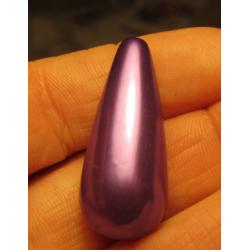 Goccia Resina  31x13 mm Violet  Pearl  -  1 pz