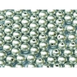 Round Beads  6 mm  Metallic Aluminium Silver  - 25 pcs