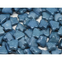 2-hole Bell 8 x 5 mm  Opaque Baby Blue  Luster   -  20 Pz