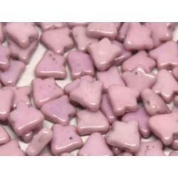 2-hole Bell 8 x 5 mm  Opaque Rose   Luster   -  20 Pz